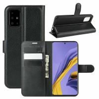 Θήκη Book Style με Βάση Στήριξης για Samsung (Galaxy A51) - (Μαύρο)
