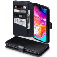 Θήκη Book Style με Βάση Στήριξης για Samsung (Galaxy A70) -Μαύρο