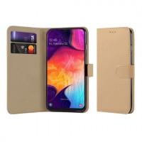 Θήκη Book Style με Βάση Στήριξης για Samsung (Galaxy A50) - (ΧΡΥΣΟ)