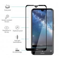 Tempered Glass Για Nokia 4.2 Plus Full Cover Glue Προστατευτικό Οθόνης - Mαύρο