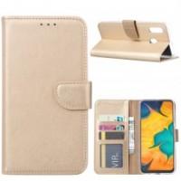 Θήκη Book Style με Βάση Στήριξης για Samsung (Galaxy M20) -ΧΡΥΣΟ