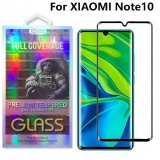Tempered Glass 9H Για Xiaomi Redmi Note 10/Note10 Pro/MI CC9 Pro Προστατευτικό Οθόνης Full Glue - Μαύρο