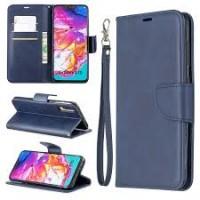 Θήκη Book Style με Βάση Στήριξης για Samsung (Galaxy A70) -ΜΠΛΕ