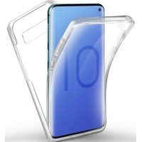 Samsung Galaxy S10e OEM Front & Back Silicone Σκληρη Two Crystal Διάφανο