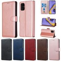 Θήκη Book Style με Βάση Στήριξης για Samsung (Galaxy A51) - (ΑΝΟΙΧΤΟ ΡΟΖΕ)