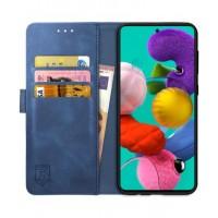 Θήκη Book Style με Βάση Στήριξης για Samsung (Galaxy A71) - (ΜΠΛΕ)