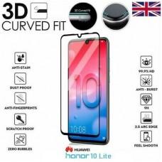 Tempered Glass 9H Για Huawei Honor 10 Lite Full Cover Glue Προστατευτικό Οθόνης Mαύρο
