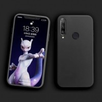 OEM Back Θήκη Σιλικόνης Για Huawei Y6P Προστασία Κινητό - Μαύρο