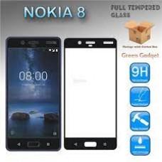 Tempered Glass 9H Για NOKIA 8 Προστατευτικό Οθόνης Full Glue - Μαύρο