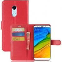 Θήκη Book Style με Βάση Στήριξης για Xiaomi Redmi 5 Plus Φούξια