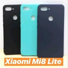 OEM Back Cover Θήκη Σιλικόνης Σκληρη Για Xiaomi MI 8 LITE- ΜΠΛΕ