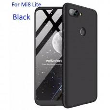 OEM Back Cover Θήκη Σιλικόνης Σκληρη Για Xiaomi MI 8 LITE- Μαύρο