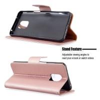 Θήκη Book Style με Βάση Στήριξης για Xiaomi Note 9s/Note 9Pro ΑΝΟΙΧΤΟ ΡΟΖΕ