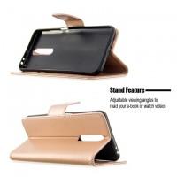 Θήκη Book Style με Βάση Στήριξης για Xiaomi Poco F2/K30- ΧΡΥΣΟ