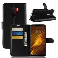 Θήκη Book Style με Βάση Στήριξης για Xiaomi f1 Pocophone- Μαύρο