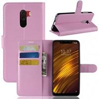 Θήκη Book Style με Βάση Στήριξης για Xiaomi f1 Pocophone- ΑΝΟΙΧΤΟ ΡΟΖΕ