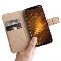 Θήκη Book Style με Βάση Στήριξης για Xiaomi f1 Pocophone- (ΧΡΥΣΟ)