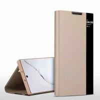 OEM Xiaomi Redmi Note 9S/Note9 Pro Smart Windows View Flip Case Gold