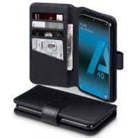 Θήκη Book Style με Βάση Στήριξης για Samsung (Galaxy A40) - (Μαύρο)