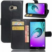 Θήκη Book Style με Βάση Στήριξης για Samsung (Galaxy A3 2017) - (Μαύρο)