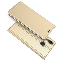OEM Βιβλίο Θήκη Για Huawei P20 Lite δερμάτινο μαζί με Stand - (ΧΡΥΣΟ)