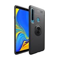 OEM Hard Back Cover Ring Stand Case Σκληρή Θήκη με Δαχτυλίδι Στήριξης Για Samsung Galaxy A9 2018 Black
