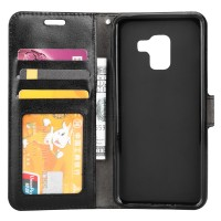 Θήκη Book Style με Βάση Στήριξης για Samsung (Galaxy A8 PLUS) - (Μαύρο)