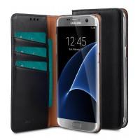 Θήκη Book Style με Βάση Στήριξης για Samsung (Galaxy S7 Edge) - Μαύρο