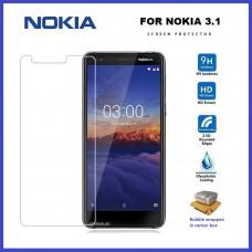 Tempered Glass Για Nokia 3.1 Glue Προστατευτικό Οθόνης  - διαφανής