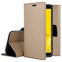 Θήκη Book Style με Βάση Στήριξης για Samsung (Galaxy j4 Plus) - (ΧΡΥΣΟ)