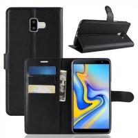Θήκη Book Style με Βάση Στήριξης για Samsung (Galaxy j6 Plus) - (Μαύρο)