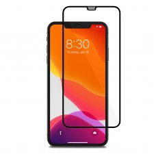 Tempered Glass Για iPhone X/XS/11 Pro Full Cover Glue Matte Προστατευτικό Οθόνης - Mαύρο