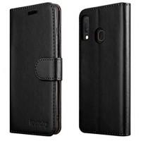 Θήκη Book Style με Βάση Στήριξης για Samsung (Galaxy A20E) - (Μαύρο)