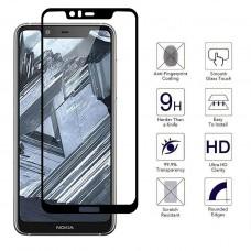 Tempered Glass Για Nokia 5.1 Plus Full Cover Glue Προστατευτικό Οθόνης - Mαύρο
