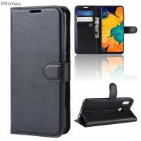 Θήκη Book Style με Βάση Στήριξης για Samsung (Galaxy A30/A20) - (Μαύρο)