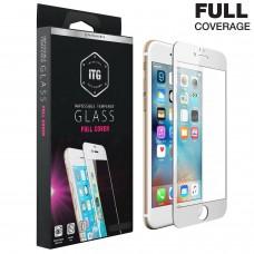 Tempered Glass Για iPhone 6/6S Full Cover Glue Matte Προστατευτικό Οθόνης - Λευκό