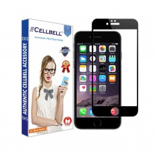 Tempered Glass Για iPhone 6/6s Full Cover Glue Matte Προστατευτικό Οθόνης - Mαύρο