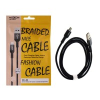 MoXom CC-35 Flat Fast Data Cable Usb to Type C 1m Black