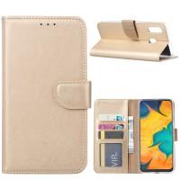 Θήκη Book Style με Βάση Στήριξης για Samsung (Galaxy A20E) - (ΧΡΥΣΟ)