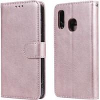 Θήκη Book Style με Βάση Στήριξης για Samsung (Galaxy A30/A20) - (ΑΝΟΙΧΤΟ ΡΟΖΕ)