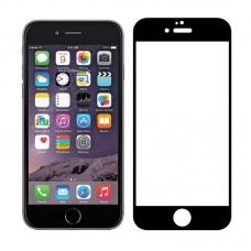Tempered Glass Για iPhone 6s Plus Full Cover Glue Matte Προστατευτικό Οθόνης - Mαύρο