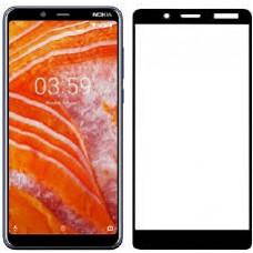 Tempered Glass Για Nokia 3.1 Plus Full Cover Glue Προστατευτικό Οθόνης - Mαύρο