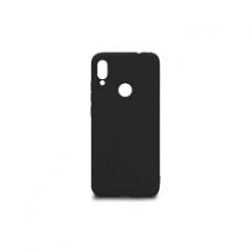 Inos Back Cover Case Silky and Soft Matte Xiaomi Redmi Note 7 Black