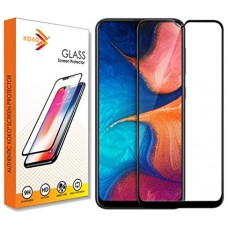 Tempered Glass Για Samsung A 20 Full Glue Προστατευτικό Οθόνης - Μαύρο