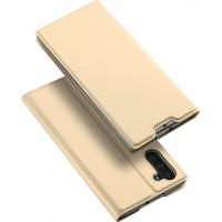 Θήκη Book Style με Βάση Στήριξης για Samsung (Note 10) - ΧΡΥΣΟ