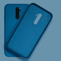 Inos Back Cover Case Silky and Soft Matte Xiaomi Redmi Note 8 Pro Blue