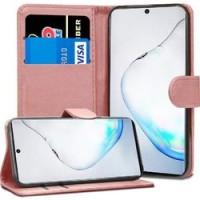 Θήκη Book Style με Βάση Στήριξης για Samsung (Note 10) - ΑΝΟΙΧΤΟ ΡΟΖΕ