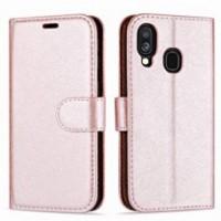 Θήκη Book Style με Βάση Στήριξης για Samsung (Galaxy A20E) - (ΑΝΟΙΧΤΟ ΡΟΖΕ)