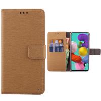 Θήκη Book Style με Βάση Στήριξης για Samsung (Galaxy A21S) -ΧΡΥΣΟ