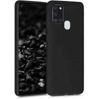 OEM Hard Back Cover Case Σκληρή Σιλικόνη Θήκη Για Samsung Galaxy A21S Μαύρο